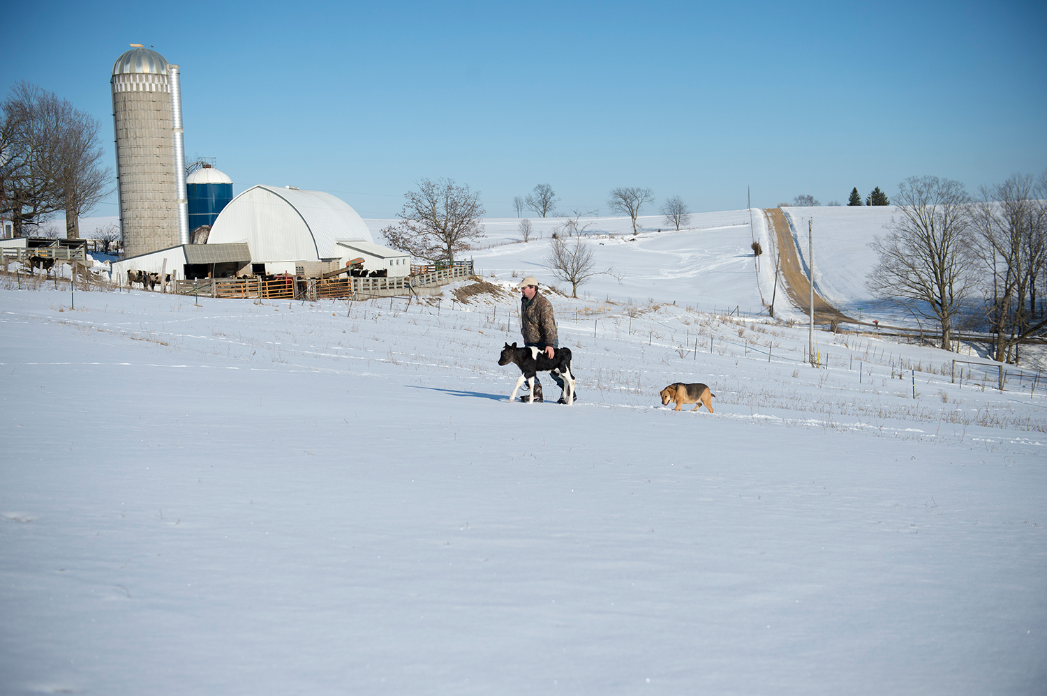 An Organic Valley family farm in Wisconsin during the winter.