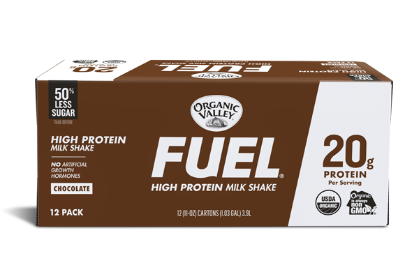 Chocolate Organic Fuel Protein Shake, 12 pack