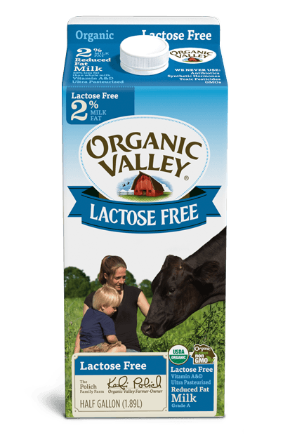 Lactose-Free, Reduced Fat 2% Milk, Ultra Pasteurized, Half Gallon