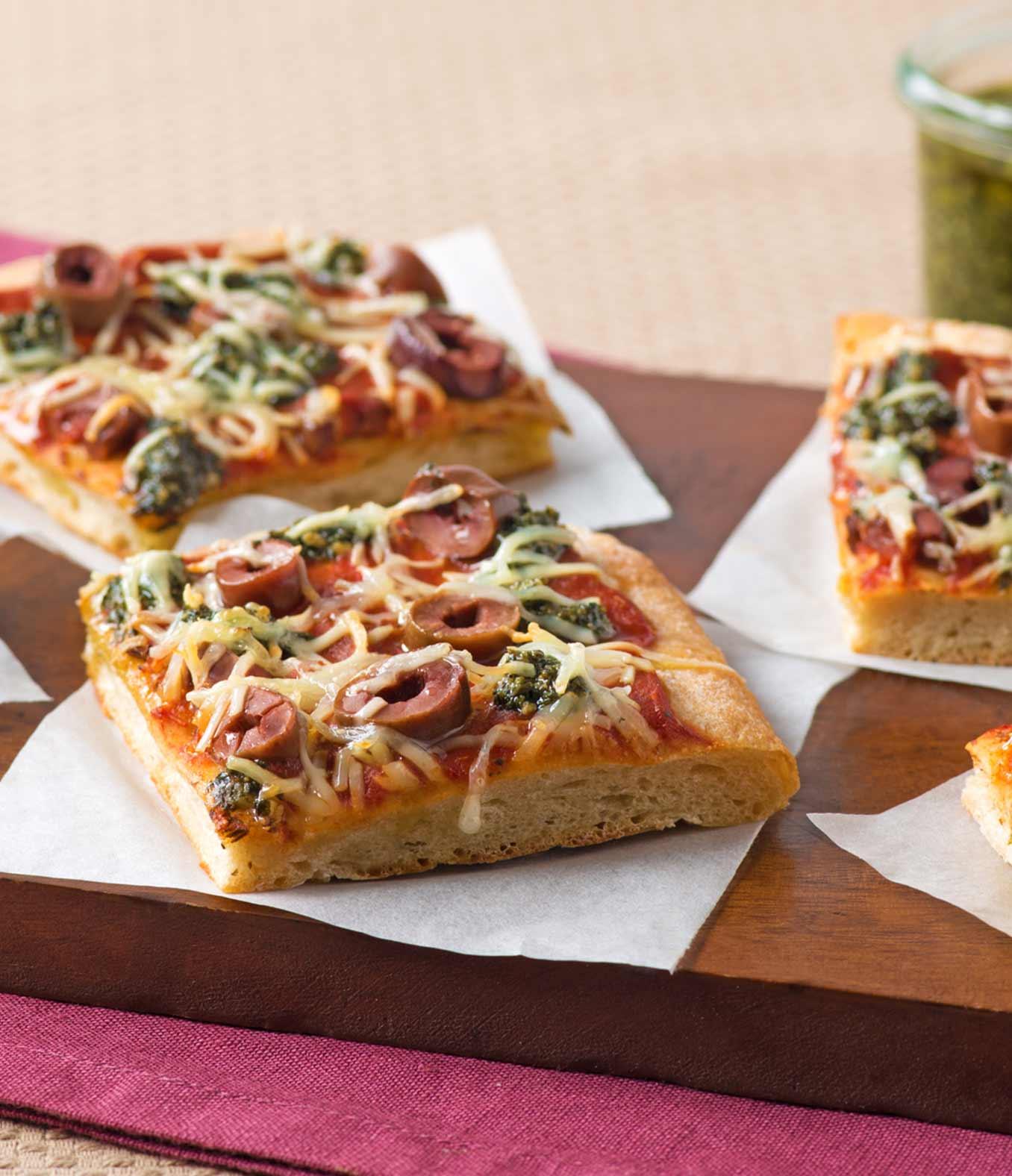 Cheese & Pesto Flatbread