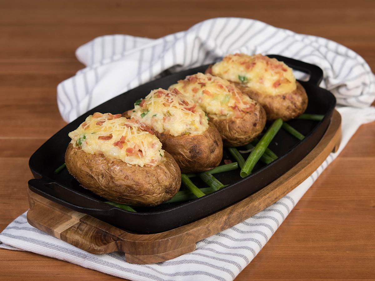 Cheesy Stuffed Potatoes.