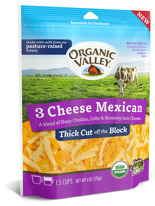 Thick Cut Shredded 3 Cheese Mexican, 6 oz