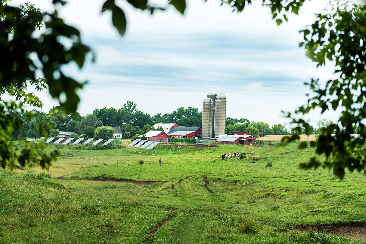 Placke farm using solar power on their farm in Wisconsin.