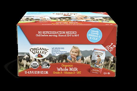 Single-Serve Whole Milk, 12 pack