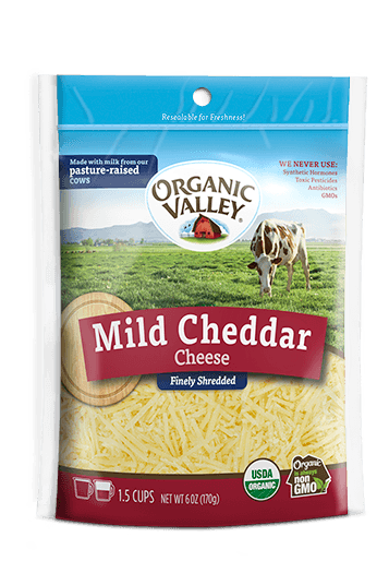 Shredded Mild Cheddar, 6 oz