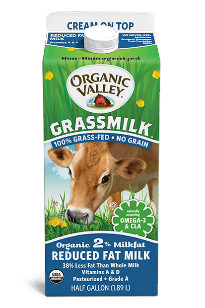 Reduced Fat 2% Cream on Top Grassmilk, Half Gallon