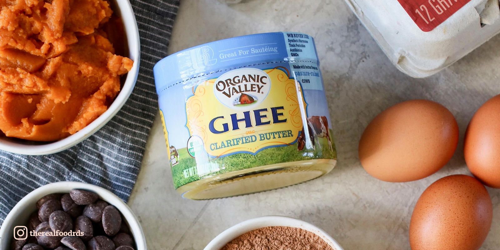 Organic Valley ghee used alongside other ingredients. Photo by The Real Food Dietitians.