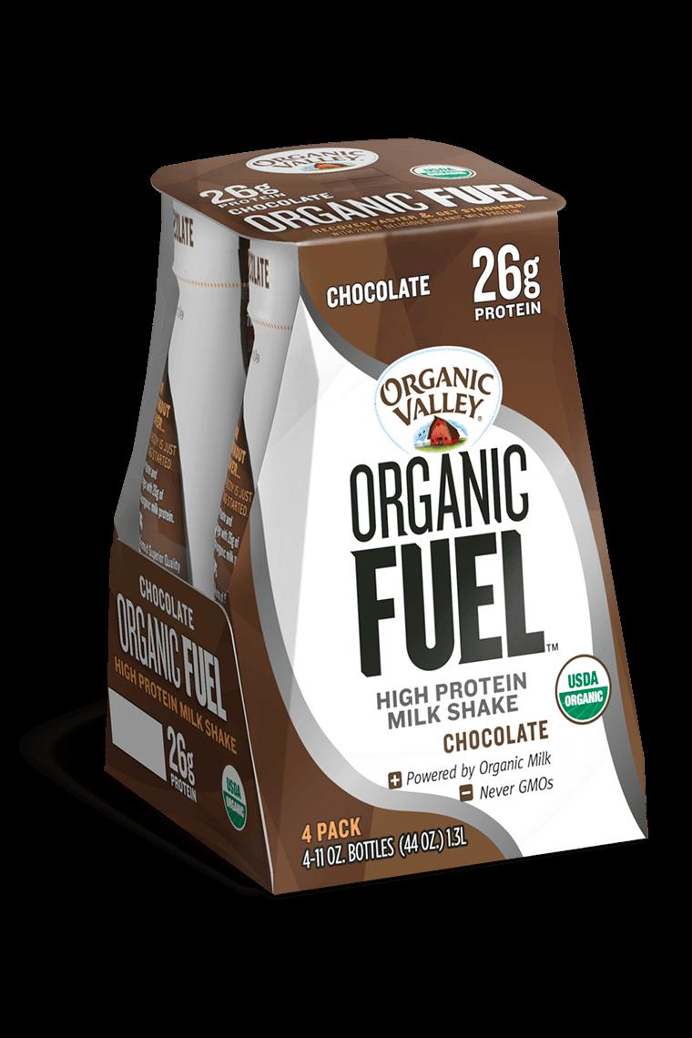 Chocolate Organic Fuel Protein Shake, 4 pack