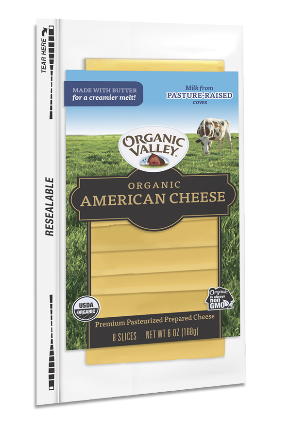 American Cheese Slices, Yellow, 6 oz