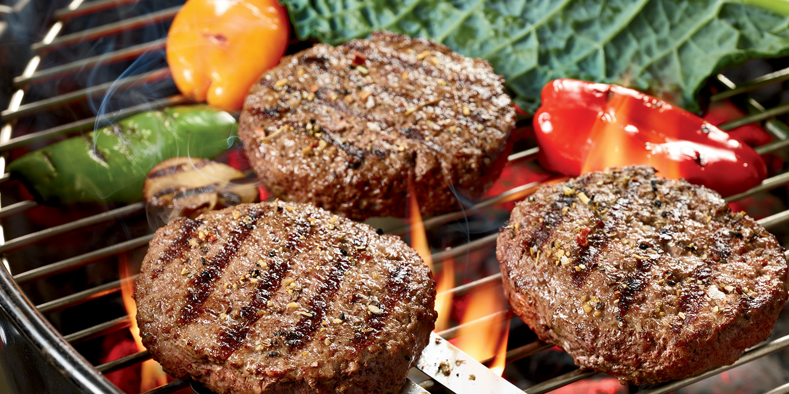 Grass-fed steak burgers from Organic Prairie.