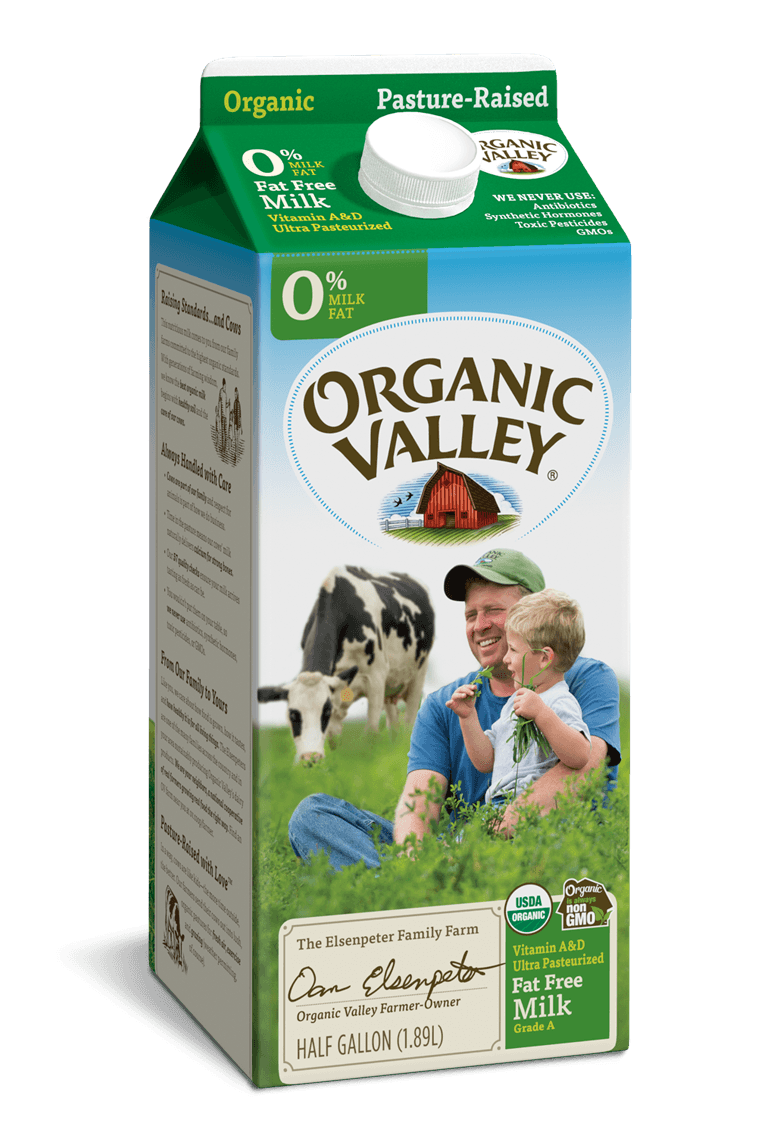 Fat Free Skim Milk, Ultra Pasteurized, Half Gallon