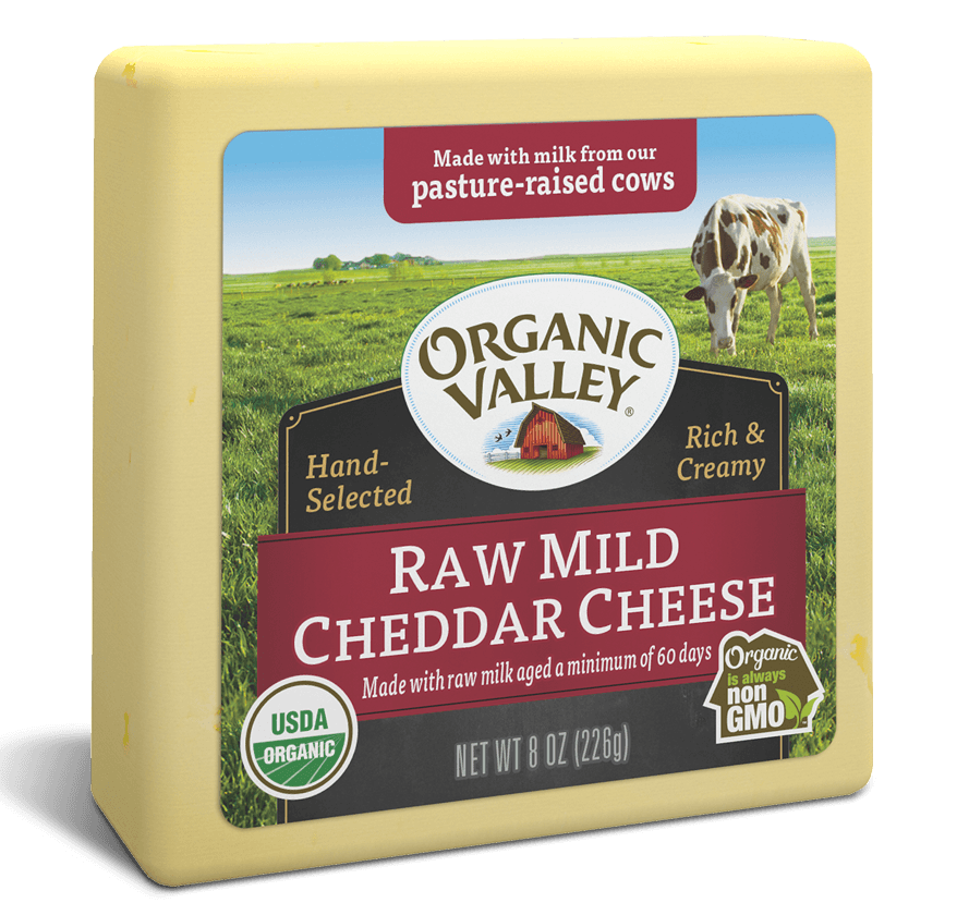 Raw Mild Cheddar, 8 oz