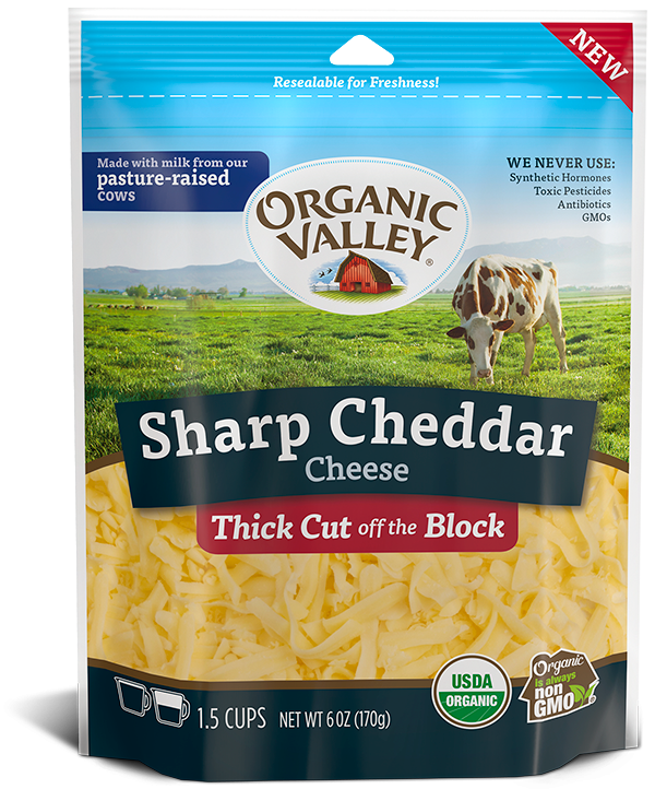 Thick Cut Shredded Sharp Cheddar, 6 oz
