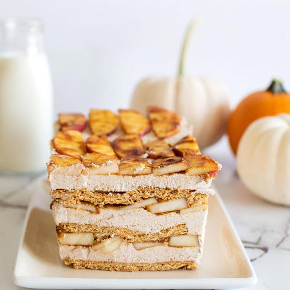 Pumpkin Spice Ice Box Cake