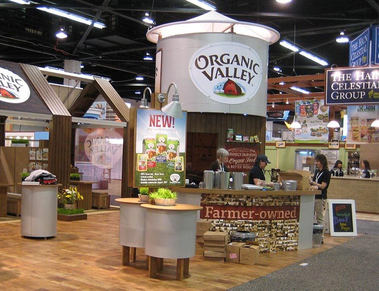 Organic Valley Trade Show Exhibit.