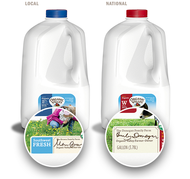 Organic Valley local and national milk