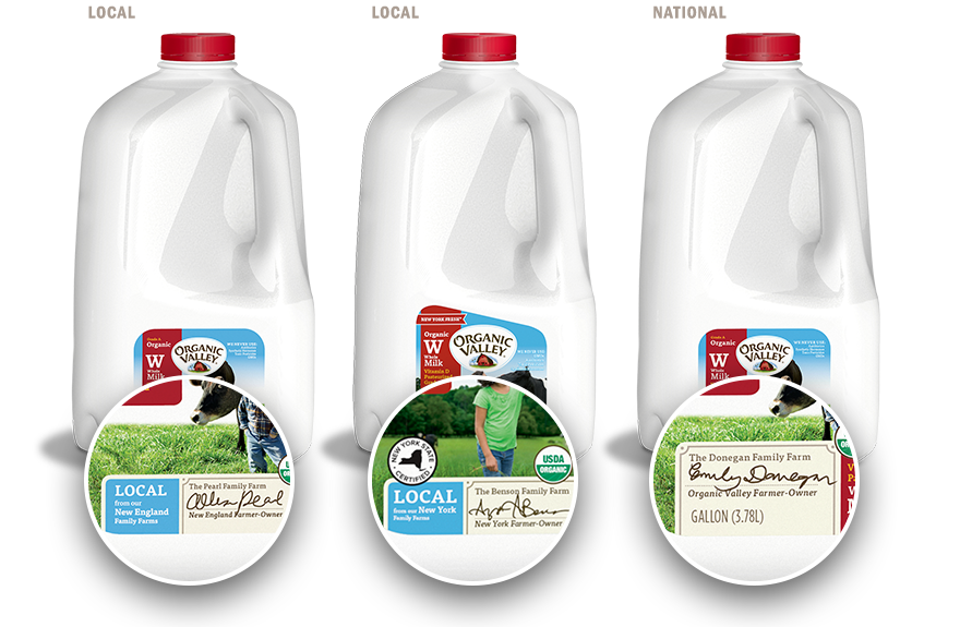 Organic Valley local and national Whole Milk