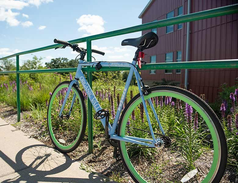 One of the Organic Valley bikes to be used by the employees